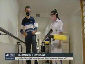 Jogo eletrônico ajuda na recuperação de pacientes que tiveram AVC - Desenvolvido por uma universidade de Araraquara, jogo tem como objetivo estimular o corpo.
