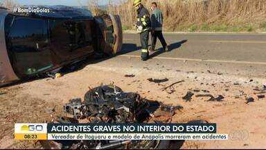 Acidentes levam pessoas à morte em Goiás - Vereador de Itaguaru e modelo de Anápolis morreram em batidas no trânsito.