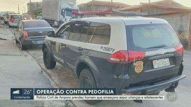 Policia Civil de Amparo prende suspeito de armazenar pornografia infantil - Jovem de 29 anos ameaçava crianças e adolescentes com fotos íntimas.