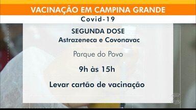 Confira o cronograma de vacinação contra a Covid-19, em Campina Grande - Veja as idades e horários de vacinação.