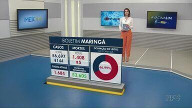 Veja dados atualizados da Covid-19 em Maringá - Números são da Prefeitura de Maringá.
