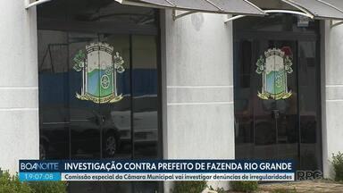 Câmara Municipal vai investigar prefeito de Fazenda Rio Grande - Entre as suspeitas está a de que servidores da prefeitura teriam furado a fila de vacinação contra o coronavírus. Defesa nega as acusações.