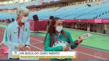 Seleção feminina de futebol começa a busca da medalha de ouro inédita - Marta estará em campo com a seleção brasileira nesta quarta, 5h (de Brasília), na estreia diante da China.