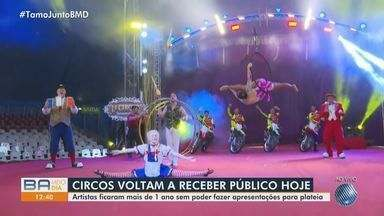 Circos voltam a receber público em Salvador; confira - Reabertura acontece nesta sexta-feira (23). Artistas ficaram mais de um ano sem realizar espetáculo por causa da pandemia.