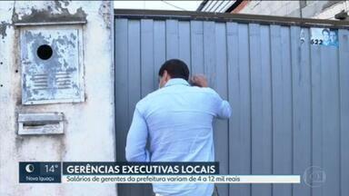 Algumas das gerências Executivas da prefeitura do Rio não têm nem sede para funcionar - O RJ2 descobriu que os salários desses Gerentes Executivos variam. Alguns ganham três vezes mais do que colegas que administram regiões maiores.