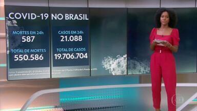 Brasil ultrapassa as 550 mil mortes por Covid - São 550.586 óbitos no país desde o início da pandemia.