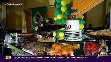 Orgulho cearense! Família vibra com Vittória Lopes nas Olímpiadas - Orgulho cearense! Família vibra com Vittória Lopes nas Olímpiadas