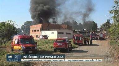 Empresa atingida por incêndio em Piracicaba terá de apresentar projeto de reconstrução - Caso é o segundo neste ano e causas do fogo são investigadas.