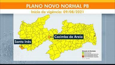 Paraíba tem 221 municípios na bandeira amarela, no Plano Novo Normal - 31ª avaliação do Plano Novo Normal a (PNN-PB) foi divulgado neste sábado (7). Outros dois municípios do Estado estão na bandeira laranja.