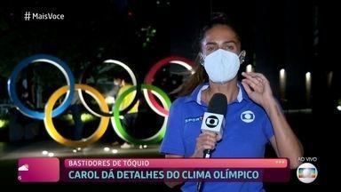 Carol Barcellos se prepara para deixar Tóquio - Repórter se despede dos Jogos Olímpicos com sensação de dever cumprido. Ana Maria Braga também agradece particpação de Thiago Oliveira