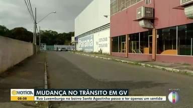 Rua Luxemburgo tem mudança de sentido em Governador Valadares - Saiba mais.