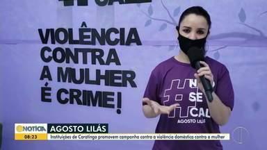 Em Caratinga, campanha 'Agosto Lilás' promove a prevenção contra a violência doméstica - Vítimas são orientadas a denunciarem o agressor.