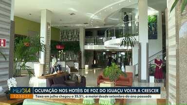 Ocupação de hotéis de Foz do Iguaçu volta a crescer - Taxa em julho chegou a 35,5%, a maior desde setembro do ano passado.
