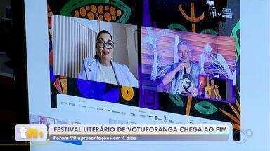 Festival Literário de Votuporanga chega ao fim com saldo de 90 apresentações culturais - Terminou no domingo (8) o Festival Literário de Votuporanga (Fliv), que teve o apoio da TV TEM e contou com 90 apresentações culturais.