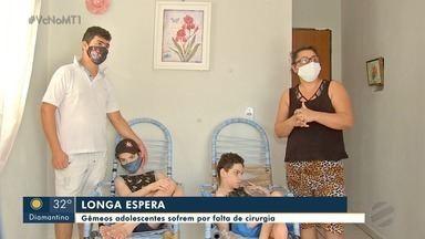 Gêmeos adolescentes sofrem por falta de cirurgia em Cuiabá - Gêmeos adolescentes sofrem por falta de cirurgia em Cuiabá.