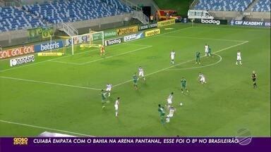 O Cuiabá empatou com o Bahia na Arena Pantanal, foi o 8º empate no Brasileirão - O Cuiabá empatou com o Bahia na Arena Pantanal, foi o 8º empate no Brasileirão.