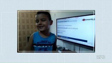 Crianças chamam intervalos do Meio-Dia Paraná desta segunda-feira (9) - Envie seu vídeo para nosso WhatsApp: (42) 99974-0062.