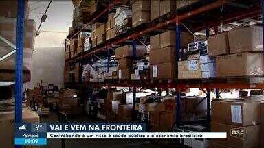 'Vai e vem na fronteira': Contrabando é um risco à saúde pública e à economia brasileira - 'Vai e vem na fronteira': Contrabando é um risco à saúde pública e à economia brasileira
