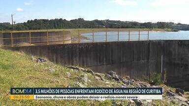 3,5 milhões de pessoas enfrentam rodízio de água na região de Curitiba - Economia, chuva e obras podem deixar o rodízio menos severo