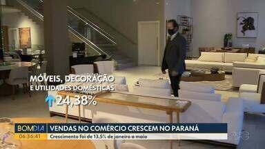Vendas no comércio crescem no Paraná - Aumento foi de 13,5% de janeiro a maio