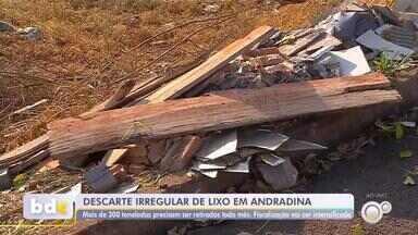 Prefeitura de Andradina intensifica fiscalização contra descarte irregular de lixo - A Prefeitura de Andradina (SP) está intensificando a fiscalização contra o descarte irregular de lixo em vários pontos da cidade.