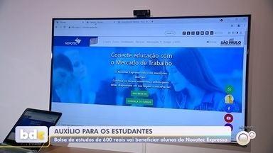 Programa Novotec oferece bolsas auxílio para estudantes da rede pública - O Governo do Estado de São Paulo vai conceder auxílio de até R$ 600 para 30 mil estudantes de ensino médio da rede pública do estado que cursem o Novotec Expresso no contraturno.