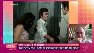Tony Ramos conta que estreou na TV em 'Espelho Mágico' ao lado de Tarcísio Meira - Ator relembra com muito carinho a parceria com o amigo Tarcísio