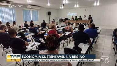 Capacitação reúne produtores para fornecerem produtos socioambientais - Encontro foi uma maneira de fomentar a economia sustentável na região.