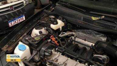 Reservatório de partida a frio precisa ser abastecido com gasolina - Procedimento é importante principalmente em dias frios.