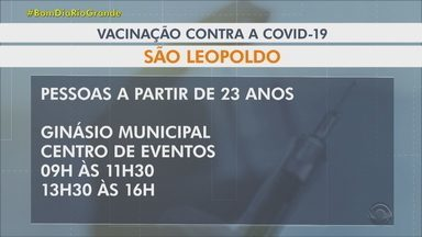 Veja quem pode ser vacinado nesta sexta na Região Metropolitana de Porto Alegre - Vacinação já atingiu 6,69 milhões de pessoas com ao menos uma dose. Isto é o equivalente a 58,5% da população residente no estado.
