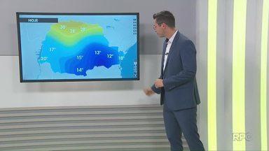 Confira a previsão do tempo para os Campos Gerais neste sábado (14) - Chuva deve dar trégua e dia deve ser nublado.