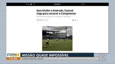 AB Esporte: Central tem decisão na Série D e Josa é apresentado no Caruaru City - Equipes se enfrentam neste sábado, às 15h, no Amigão, pela 11ª rodada da Série D.