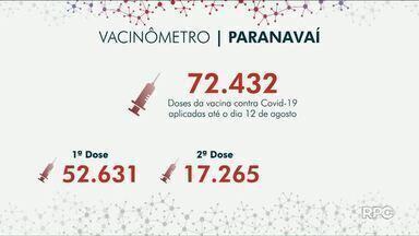 Hoje estão sendo imunizadas pessoas com 25 anos em Cianorte - Em Umuarama e Paranavaí tem aplicação da segunda dose.