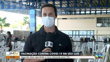 Vacinação contra a Covid-19 em São Luís - Segunda dose agendada e nova chamada para quem tem 18 anos ou mais.
