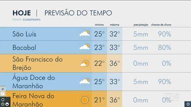 Veja a previsão do tempo no Maranhão - Acompanhe as variações das temperaturas nesta sexta-feira (13) em São Luís e também no interior do estado.