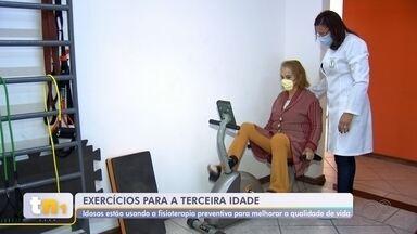 Fisioterapia preventiva ajuda idosos a melhorar qualidade de vida e ter independência - A fisioterapia preventiva vem sendo buscada no centro-oeste paulista por idosos que desejam ter qualidade de vida e se manter independentes.