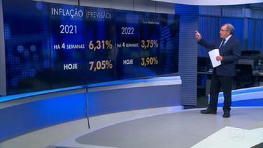 Sardenberg analisa a piora nos índices econômicos em meio às incertezas políticas e fiscais - O comentarista Carlos Alberto Sardenberg analisa a projeção da economia e como a inflação deve refletir no bolso dos brasileiros.