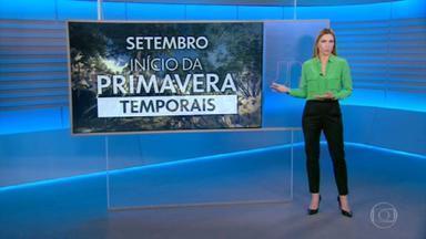 Confira os destaques da previsão do tempo - Em setembro começa a primavera e, conforme a estação se aproxima, os temporais se espalham pelo Brasil novamente.