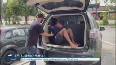 Motorista de aplicativo é sequestrado em São Vicente - Vítima ficou em cativeiro na cidade por aproximadamente 4 horas.