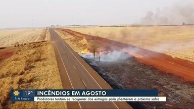 Produtores tentam se recuperar dos incêndios para plantarem a próxima safra - Bom Dia Região