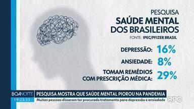 Pesquisa revela que saúde mental dos brasileiros piorou durante a pandemia - 42% das pessoas entrevistas disseram se sentir tristes.