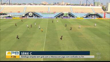Manaus 0 x 0 Botafogo-PB, pela rodada #16 da Série C - Amazonenses e paraibanos não saem do zero.