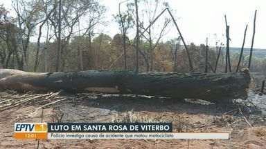 Polícia Civil investiga acidente que matou motociclista em Santa Rosa de Viterbo - Vítima teria sido atingida por árvore no sábado (11).