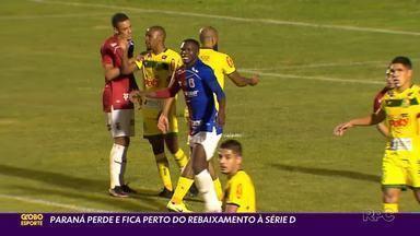 Paraná precisa de milagre para escapar do rebaixamento - O Paraná Clube perdeu para o Mirassol em plena Vila Capanema, em jogo com muita reclamação da arbitragem, e agora está em situação desesperadora na Série C. O time pode ser rebaixado na próxima rodada