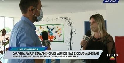 Caraguá amplia período dos alunos nas escolas municipais - Medida é para evitar prejuízos causados pela pandemia.