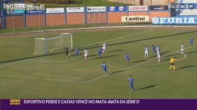 Esportivo perde e Caxias vence no primeiro jogo da fase mata-mata da Série D - Veja os gols das duas partidas.
