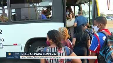GDF cria regras para limpeza dos ônibus do Entorno - As aglomerações nos ônibus lotados continuam um problema para rodoviários e passageiros.