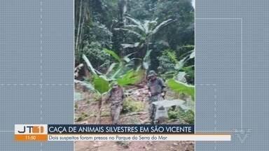 Polícia Militar Ambiental flagra caça de animais silvestres em São Vicente - Dois suspeitos foram detidos pelo ocorrido.