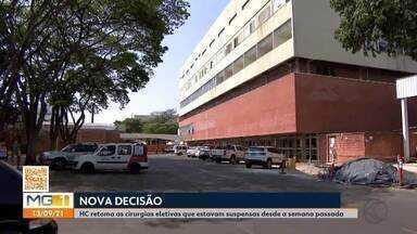 HC-UFU retoma cirurgias eletivas que estavam suspensas por superlotação e falta de insumos - Hospital de Clínicas voltou a realizar procedimentos neste final semana em Uberlândia.
