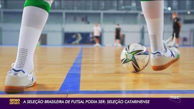 Repleta de catarinenses, seleção brasileira de futsal estreia no Mundial - Repleta de catarinenses, seleção brasileira de futsal estreia no Mundial